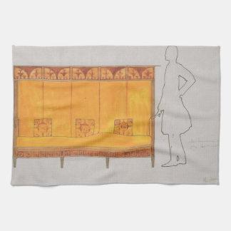 Koloman Moser- Proportion of study seat Kitchen Towel