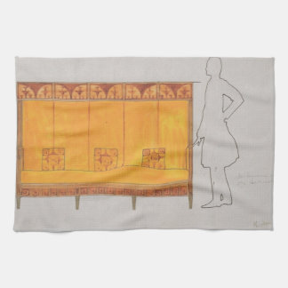 Koloman Moser- Proportion of study seat Hand Towels