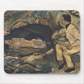 Koloman Moser- Self-Portrait with mermaid Mouse Pads