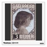 Koloman Moser- Stamp Design Crown Prince Otto Wall Decals
