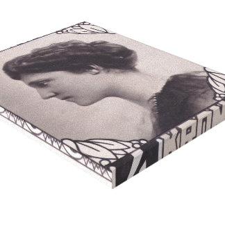 Koloman Moser- Stamp Design Empress Zita Gallery Wrap Canvas