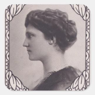 Koloman Moser- Stamp Design Empress Zita Square Sticker