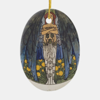 Koloman Moser- The sketch of the round window art Christmas Tree Ornaments