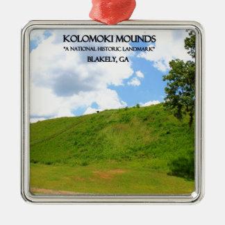 KOLOMOKI MOUNDS - Blakely, Georgia Metal Ornament