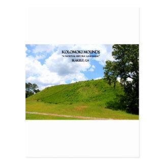 KOLOMOKI MOUNDS - Blakely, Georgia Postcard