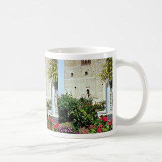 Kolossi Castle, near Limassol, Cyprus  flowers Classic White Coffee Mug