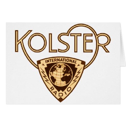 Kolster Greeting Card