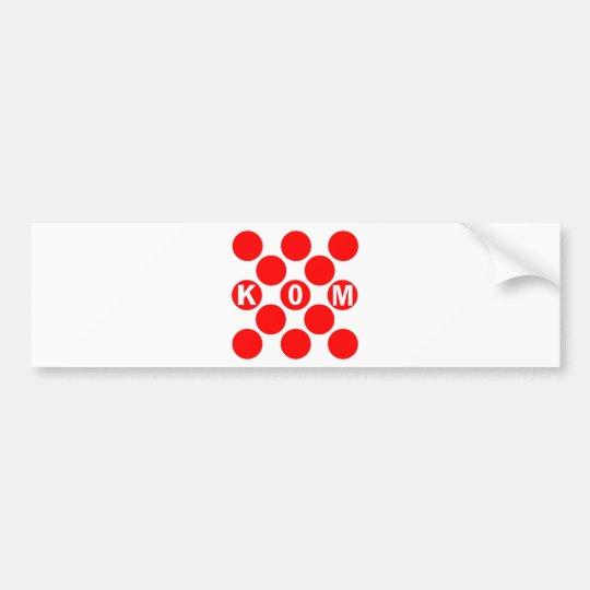 KOM Red Dots Bumper Sticker