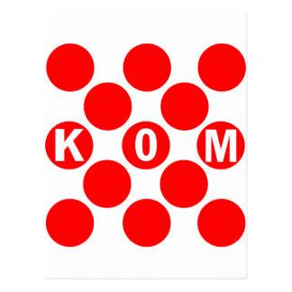 KOM Red Dots Postcard