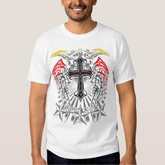 Kombat MMA Kross and Tribal Design Shirt