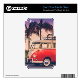 kombi fornia iPod touch 4G decals