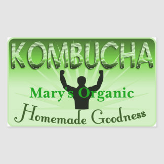 Kombucha Label Customize Your Own Rectangular Sticker