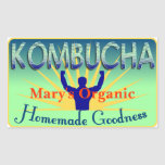 Kombucha Label Customize Your Own Rectangle Stickers