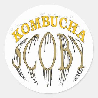 Kombucha Scoby Classic Round Sticker
