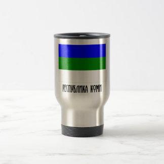 Komi Republic Flag 15 Oz Stainless Steel Travel Mug