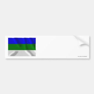 Komi Republic Flag Bumper Sticker