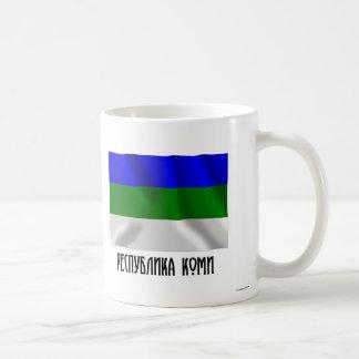 Komi Republic Flag Classic White Coffee Mug