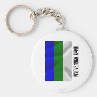 Komi Republic Flag Keychain