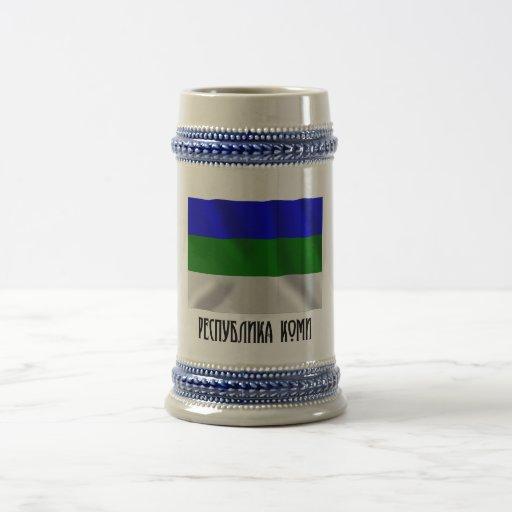 Komi Republic Flag Coffee Mugs