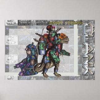 Kommando Kat y TeknoSaurus (enorme) Impresiones