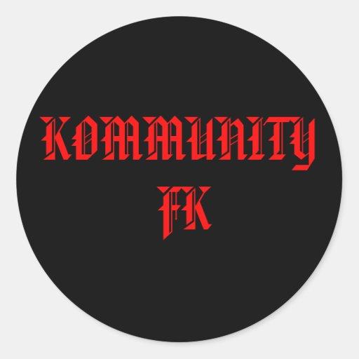 """¡KOMMUNITY FK PALILLO DEL """"PEGATINA""""… ÉL!!"""