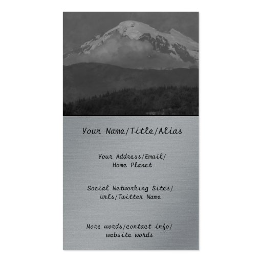 Komo Kulshan Double-Sided Standard Business Cards (Pack Of 100)