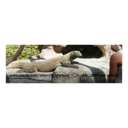 Komodo Dragon Bookmark Business Card Template