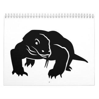 Komodo dragon calendar