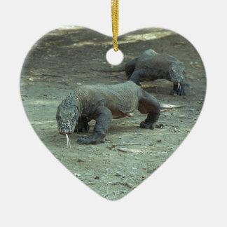 Komodo Dragon Heart Ceramic Ornament