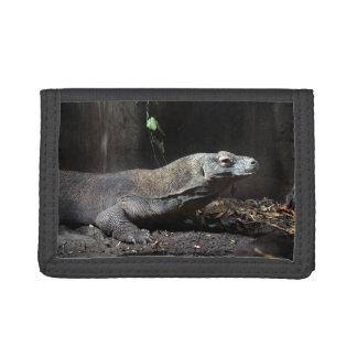 komodo dragon right tri-fold wallet