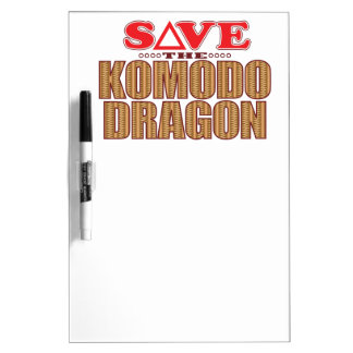 Komodo Dragon Save Dry Erase Board