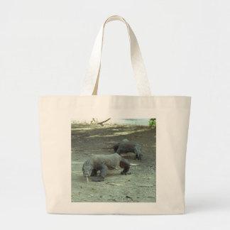 Komodo Dragons Large Tote Bag