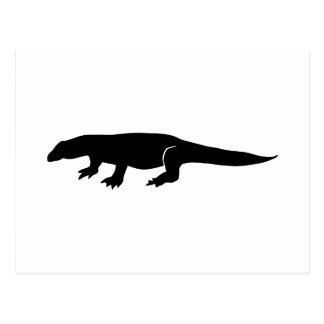 Komodo Silhouette Postcard