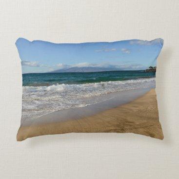 Beach Themed Komohana Volcano in Maui Hawaii Accent Pillow