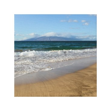 Beach Themed Komohana Volcano in Maui Hawaii Canvas Print