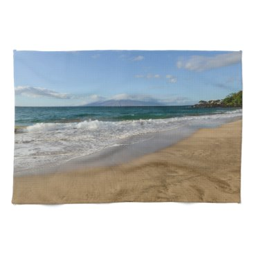 Beach Themed Komohana Volcano in Maui Hawaii Hand Towels