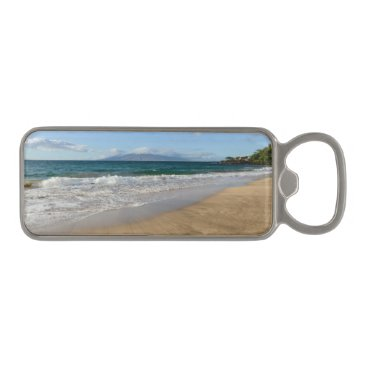 Beach Themed Komohana Volcano in Maui Hawaii Magnetic Bottle Opener