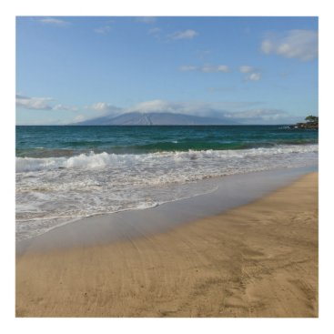 Beach Themed Komohana Volcano in Maui Hawaii Panel Wall Art