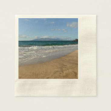 Beach Themed Komohana Volcano in Maui Hawaii Paper Napkin