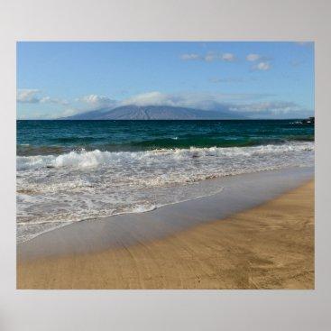 Beach Themed Komohana Volcano in Maui Hawaii Poster
