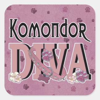 Komondor DIVA Square Sticker