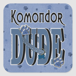 Komondor DUDE Square Sticker