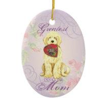 Komondor Heart Mom Ceramic Ornament