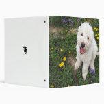 Komondor Pup I by RyuNeko-Artz 3 Ring Binders