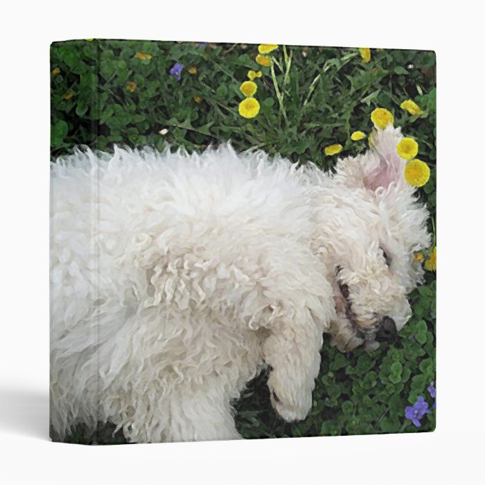 Komondor Pup II by RyuNeko-Artz 3 Ring Binder