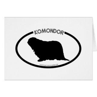 Komondor Silhouette Black Card