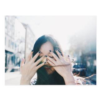 Komorebi Brooklyn Bushwick Sunshine Girl Photo Postcard