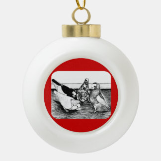 Komorner Tumbler Quartet Ceramic Ball Christmas Ornament