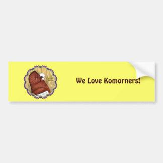 Komorner Tumbler Woodgrain Bumper Sticker