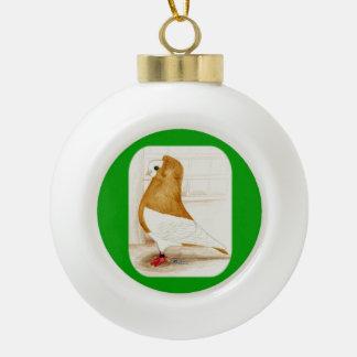 Komorner Yellow Mag 1973 Ceramic Ball Christmas Ornament